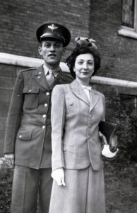 Mom and Dad in Grand Rapids when Dad was commissioned and becam a 2nd Lieutenant